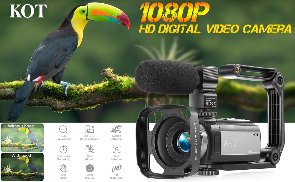 KOT 1080P HD Digital Vlogging Camera