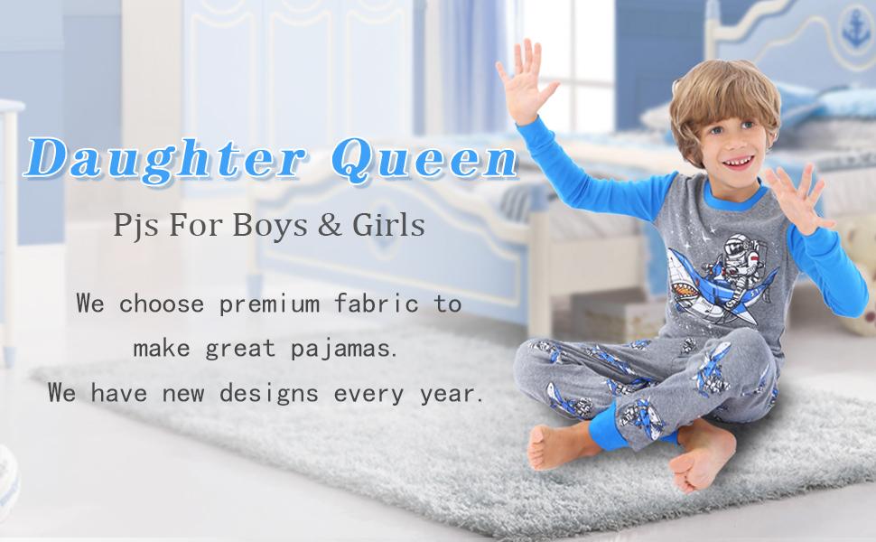 Boy Pajamas Toddler little Kids 100% Cotton Long Sleeves 2pc Pjs Set childrens Sleepwear