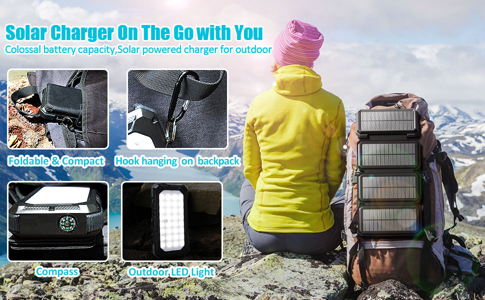 solar powered charger for outdoor,battery
