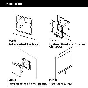 Wall bracket+Junction Box