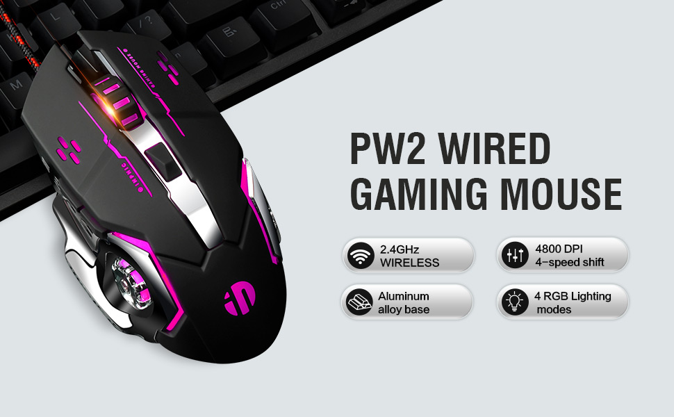 ZSLLO Wired USB Optical Mouse Multi-Function Gaming Mouse DPI Adjustable Programmable Button Mute 6 Buttons Optical Gaming Mice