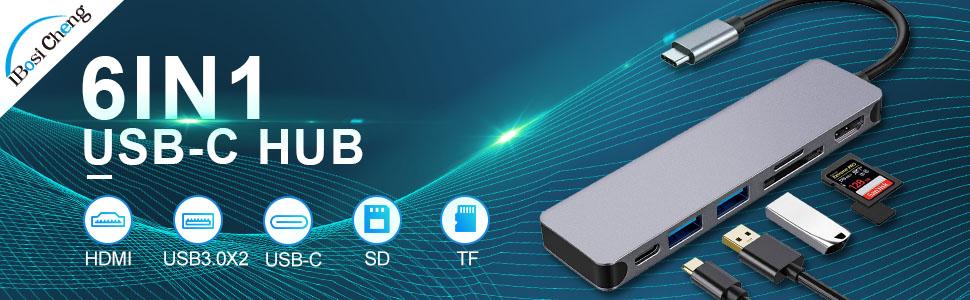 6 in 1 usb-c adapter
