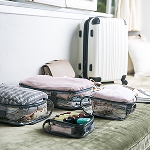 Packing cubes for suitcase organization