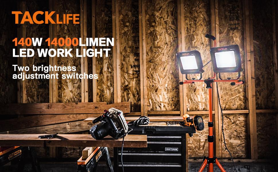 Dual-Head LED work light with Tripod