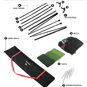 golf net golf mat carrying bag