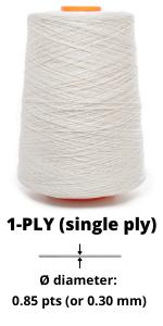 1-ply linen yarn