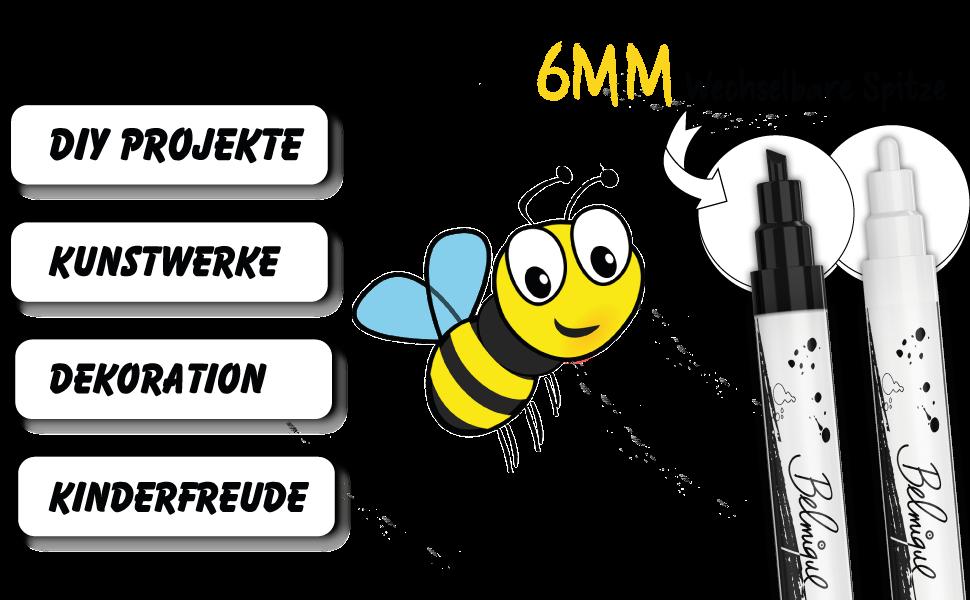 SCHWARZ WEI? KREIDEMARKER SET TAFELSTIFTE-SCHWARZ FENSTERMALSTIFTE glasmalstifte dekoration letter
