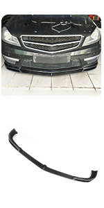 Benz C Class W204 C204 C63 AMG Bumper Coupe Sedan 2012-2014 Carbon Fiber Front Chin Spoiler V Style