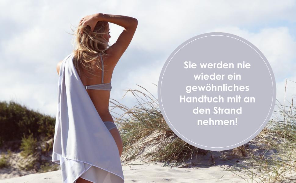 Strandtuch Sommer Strandt/ücher Leicht Schnelltrocknend Sand Proof Saugf/ähig Handt/ücher Handtuch f/ür Reise Strand Schwimmen Sport Surwin Strandhandtuch Mikrofaser