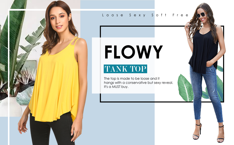zeagoo flowy tank top for women