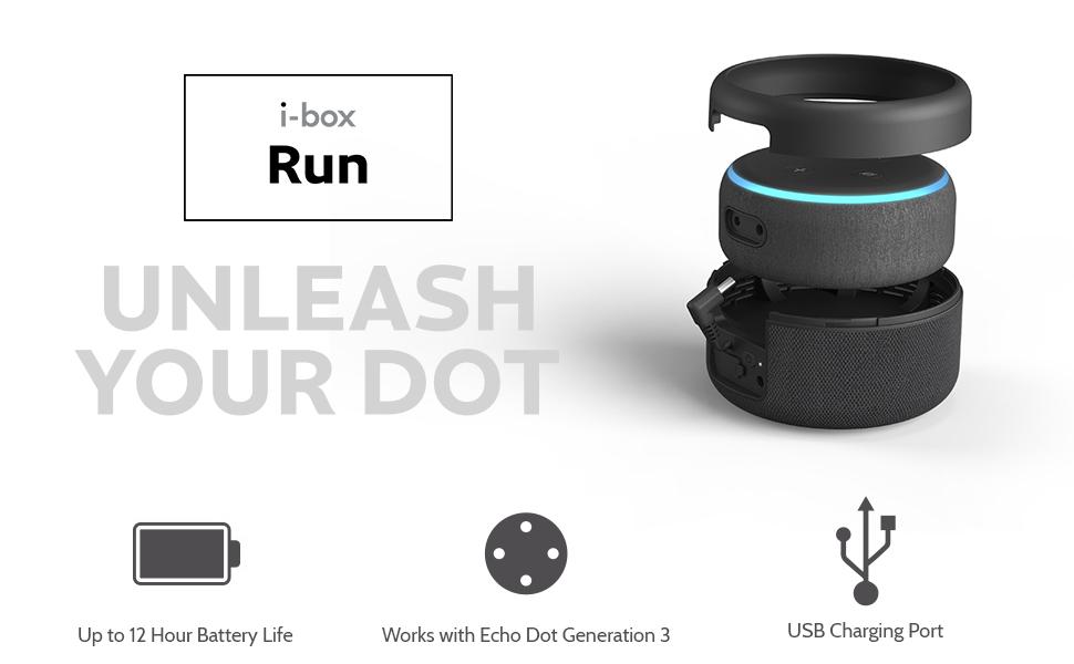 New i-box Battery Base for Amazon Echo Dot 3rd Generation