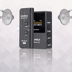 Микрофон Comica, Comica BoomX-D, микрофон с по-голяма сила, безжичен микрофон 1-Trigger-2, предавател