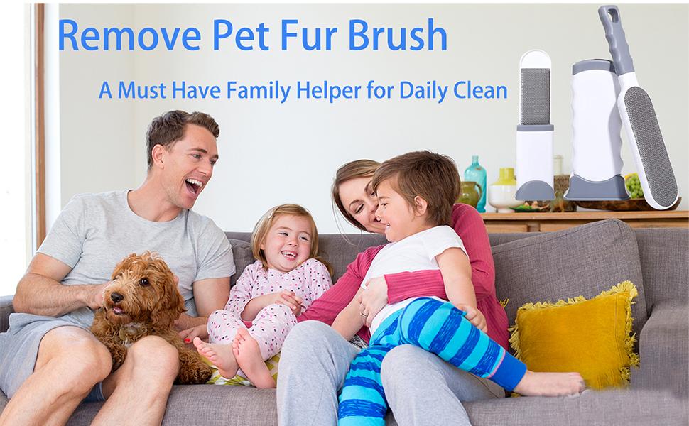 Pet fur brush