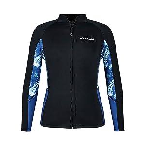 canoeing suit jacket diving jacket wet suits tops women neoprene tops water sports suit surfing suit