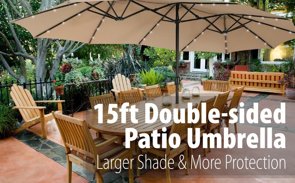 15ft patio umbrella