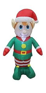 bzb goods christmas reindeer inflatables leds yard garden decorations outdoor snowman lights trees