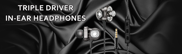 triple driver wired earbuds
