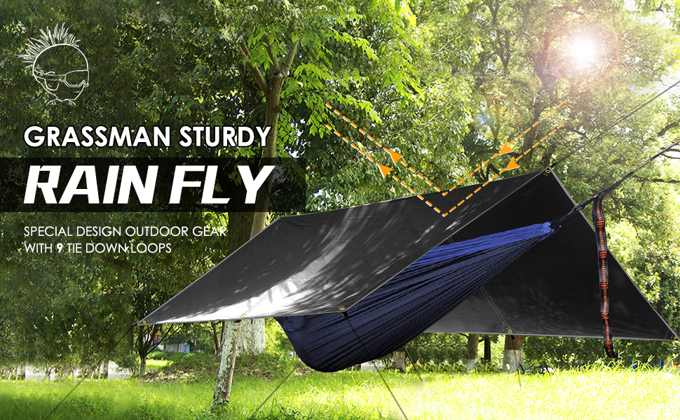 Easy to Setup Camping Tarp Tent Grassman Camping Tarp Ultralight Waterproof 10x10ft//10x12ft Rain Fly Shelter Perfect for Backpacking Travel Outdoor Adventures Survival Gears Hiking