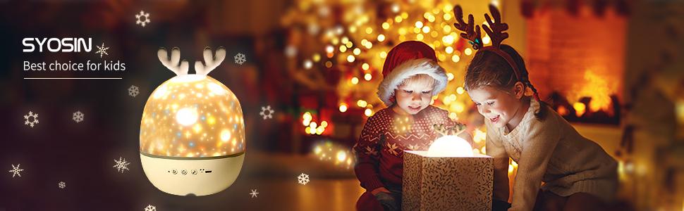 Projecteur étoilé lumière télécommande garçon jouets nuit lampe chambre décoration bébé cadeau