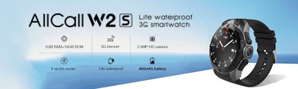 Life waterproof 3G smartwatch