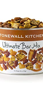 Stonewall Kitchen Nuts Bar Mix Cheddar Cracker Salt Corn Snack Appetizer Crunch