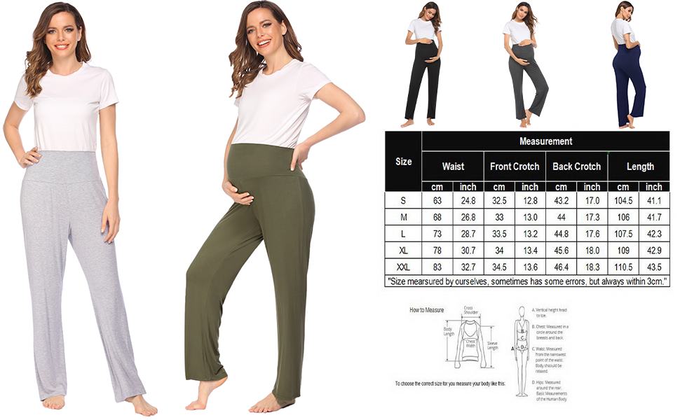 Maternity Pajama Pants for Women Pregnancy Long Pants