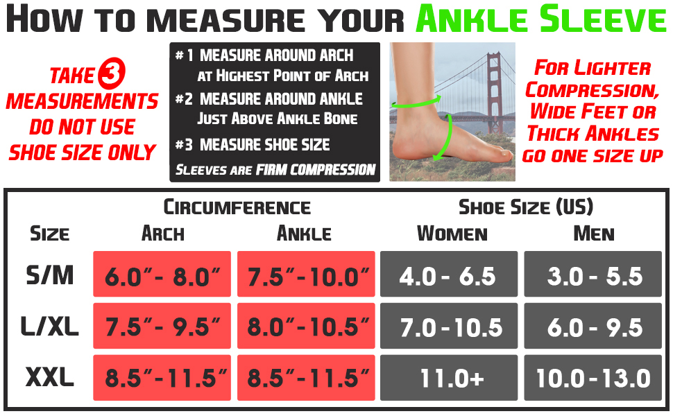 ankle sleeve sizing chart nano socks compression socks