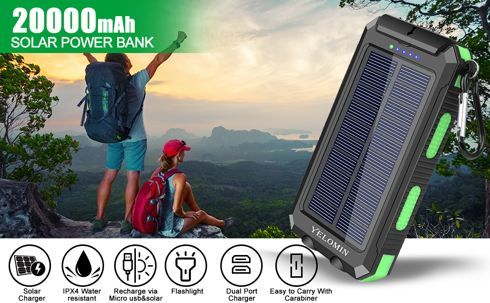 Solar power bank provides more convenience in your daily or in your trip