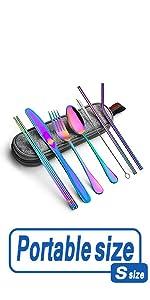 rainbow iridescent flatware set