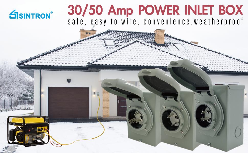 Sintron Generator Power Inlet Box