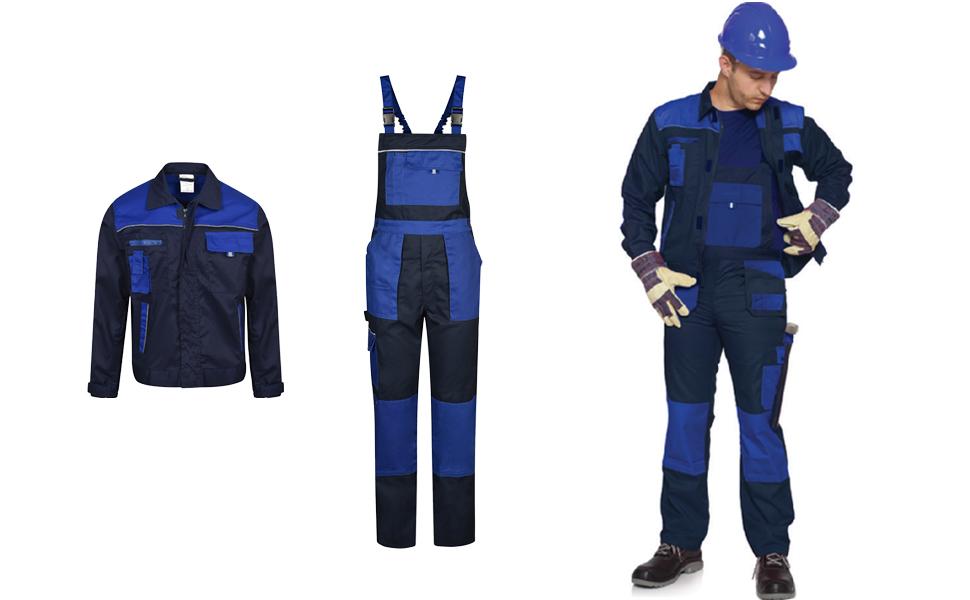 Blu Navy//Blu Reale Uomo Alpha Salopette da Lavoro Elementi Riflettenti