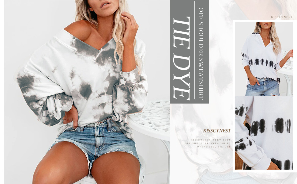 off shoulder sweatshirt tops