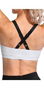 Sport BH für Damen mit Verstellbarer Riemen Yoga Top Bustier Shirt Workout