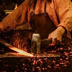 True forged blade knife viking blacksmith cuchillos forjados a mano vikings blade seax sax knife