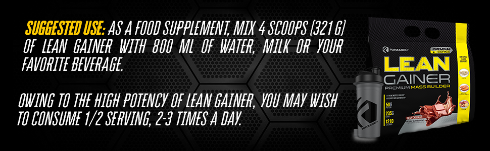 Suggested use protein  powder mass gainer muscle gainer