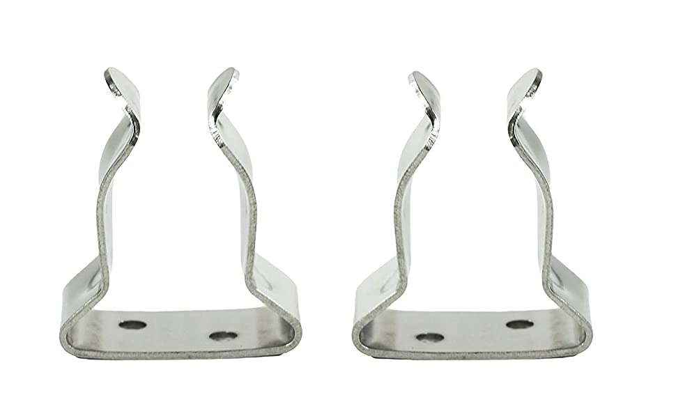 "5//8/""-1/"" SeaLux Pair Stainless Steel Boat Hook Spring Clamp Holder bracket clip"