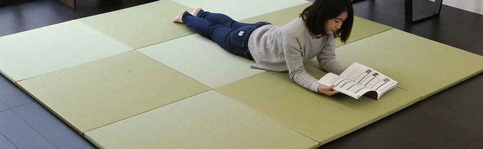 置き畳 ユニット畳 畳マット フローリング畳 琉球畳 市松敷き 半帖 半畳