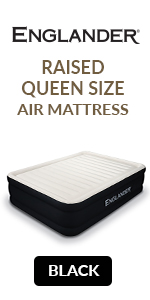 englander black queen size air mattress raised inflatable guest bed queen