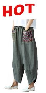 linen capris for women