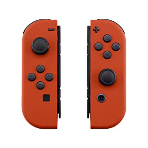 eXtremeRate Carcasa para JoyCon Nintendo Switch Funda de Agarre reemplazable Shell de Bricolaje Cubierta Tacto Suave con Botón Completo para Nintendo Switch No Incluye Carcasa de la Consola(Naranja): Amazon.es: Electrónica