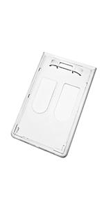 Hard Plastic 2 Card ID Holder