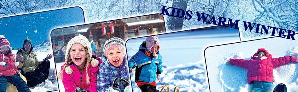 Kids winter snow boots
