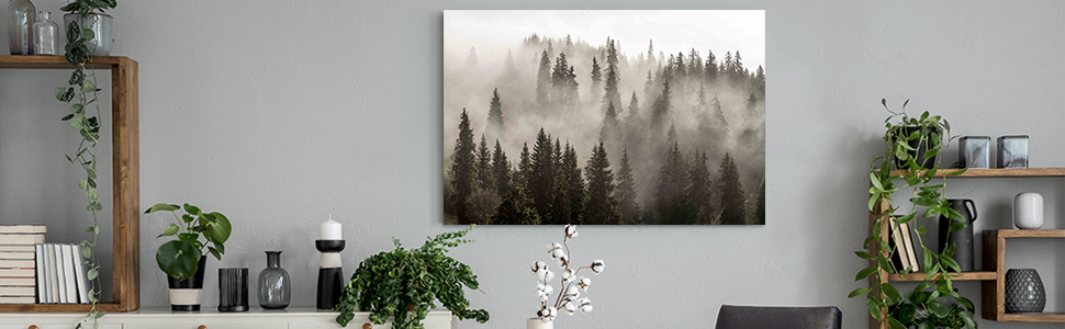 forest paintings for wall