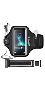JEMACHE Run Workout Armband Case for Samsung Galaxy S20 Plus/S10 Plus/S9 Plus/S8 Plus (Black)