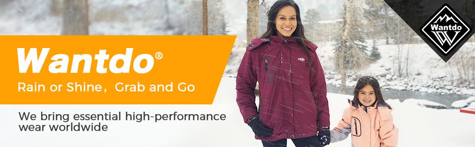 Wantdo Women's Waterproof Ski Jacket Windproof Winter Warm Snow Coat
