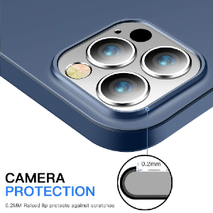 Camera protected with a raised ring