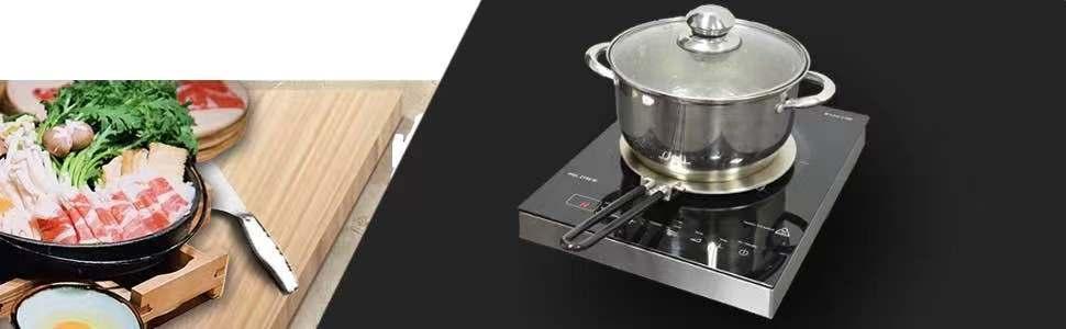 Details about  /Heat Diffuser Plate Stainless Steel Handel Indution Pan Surface Kitchen Gadget
