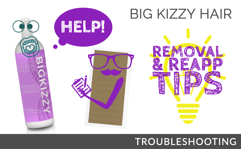 Troubleshooting Big Kizzy Hair Extension Tape amp; Remover