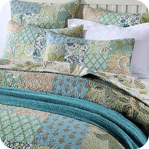 Bohemian Cotton Bedspread Quilt Set
