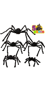 Realistic Hairy Spiders Set